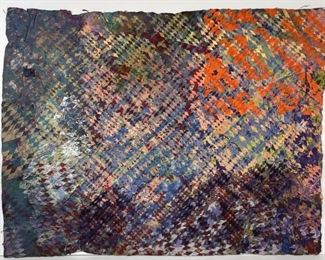 William Weege Mixed Media on Hand Made Paper 1977