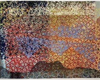 William Weege Mixed Media on Hand Made Paper 1976