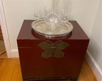 Asian box on stand