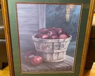 Apple Basket Print