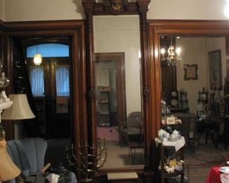 Huge Victorian Pier/Hall Mirror