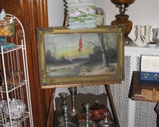 1 of several paintings and other items