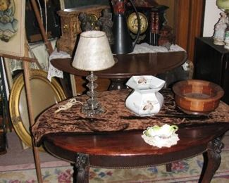a couple nice tables, notice the lion heads on the legs