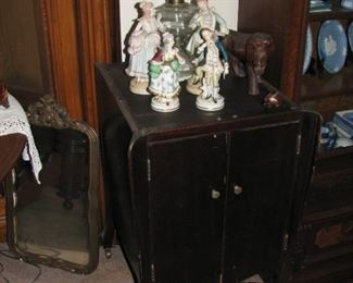 record cabinet, mirror, lamp and more