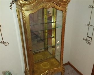 Ornate Gilded China Cabinet