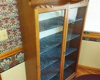 Antique Oak Victorian Library Bookcase