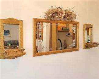 Mirror and sconces $25