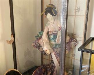 Geisha Doll Kimono in Case, Vintage