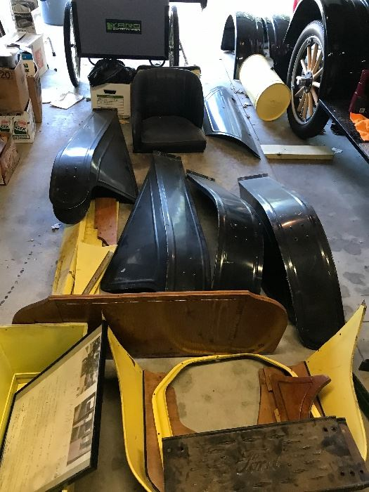 """Model T Speedster parts! Ready to build! Numerous other """"T"""" parts too! Wheels, hubs, trim and more!"""