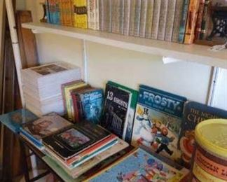 Vintage books and puzzles