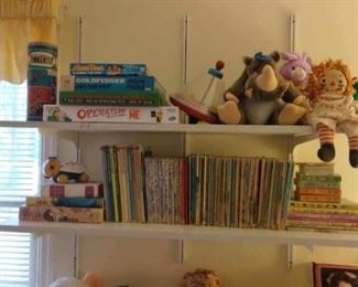 Vintage books and toys