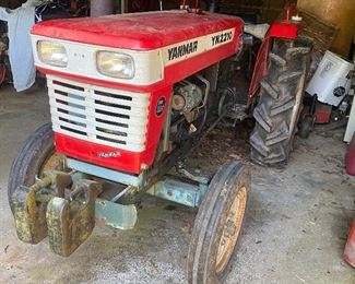YM2210 red Farm Tractor is going to be for sale soon but will used by the estate for managing the grounds until the farm property has sold. Once the property has sold/been closed on, the tractor can be sold.