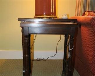 Baker nesting tables large 24w x 16d x 25h, medium 18w x 13 1/2d x 24h