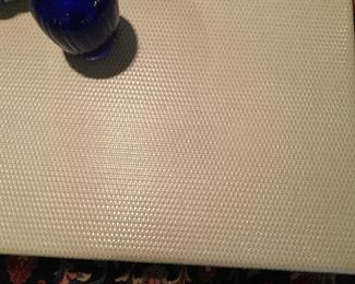 Basket weave pattern on cocktail table