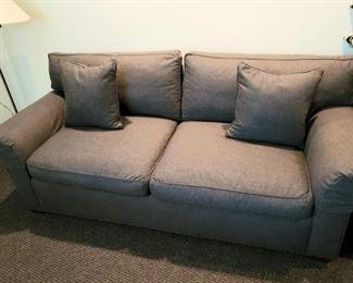 "Sleeper sofa 82"" long , down filled, custom ordered, custom fabric"