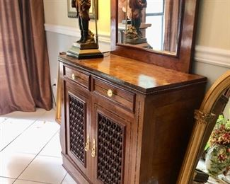 Entry hall console & mirror