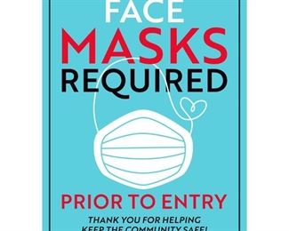 Masks required for entry to help keep everyone safe. Thank you for your cooperation.