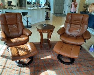 Both of these Ekorne Stressless Chairs and ottomans are in excellent shape!   If you have ever wanted one, this is the time.