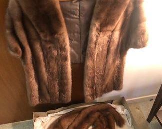 mink shrug/shawl
