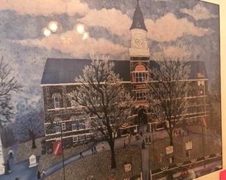 framed and matted courthouse print