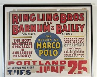 """RINGLING BROS AND BARNUM & BAILEY POSTER 