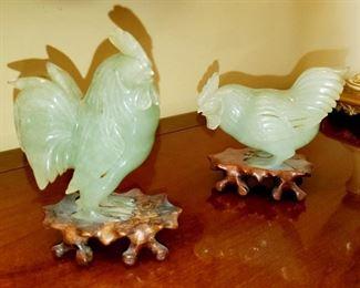 Semi Precious Stone, Roosters,