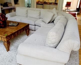 Bernhardt sectional sofa, coffee table not available