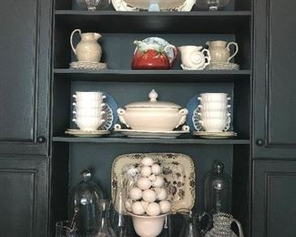 terrific selection of serving pieces