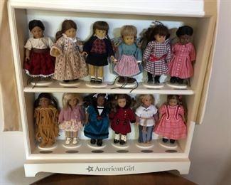 American Girl Mini Dolls w/ Shelf