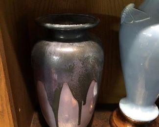 Large Cowan drip glaze lamp base