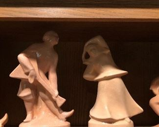 Cowan pottery Russian Peasant dancers group by Alexander Blazys