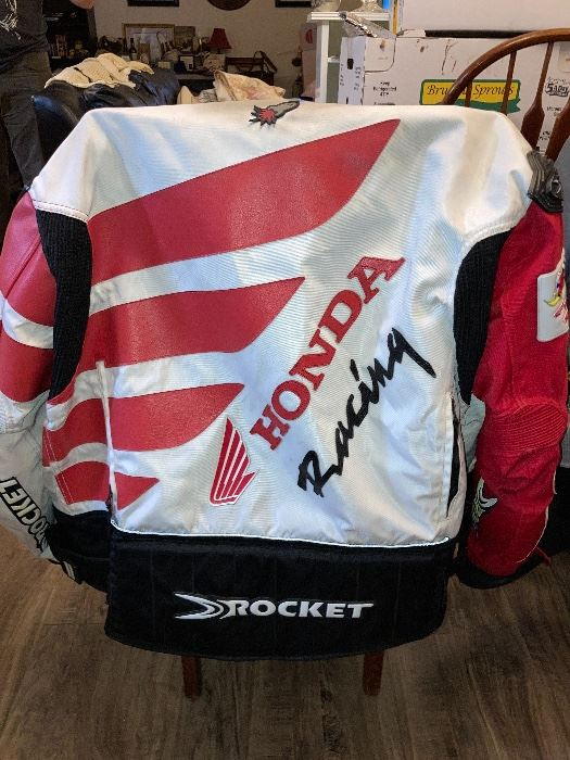 Joe Rocket Honda vintage style jacket - zipper broken, includes liner vest