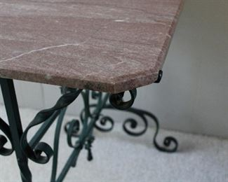 Fabulous edge treatments on the pink marble top