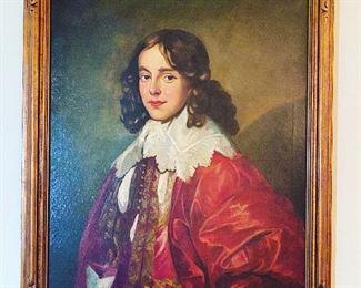 """30"""" x 36""""  Oil On Canvas Portrait  Vintage Beautiful Boy  $375"""