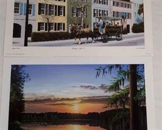 2 Jim Booth Prints, Rainbow Row Savannah Shoals, Prints
