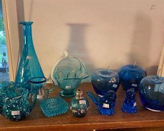 Blue Glassware/Décor, BLENKO Glass Apples