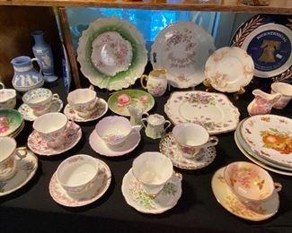 Antique Teacups, Dishes