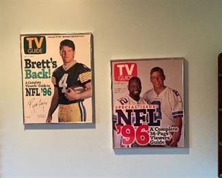 Signed TV Guide Poster Brett's NFL 96