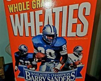 Wheaties Barry Sanders Signed box