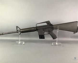 """Bushmaster XM-15 E-2S AR-15 Rifle Comes with One (1) C Products 10 Rnd Mag. Has 16"""" Barrel. Carrying Handle. Rubberized Grip. 5.56 Nato/.223. Adjustable Rear Peephole Sights. Shipping to Licensed FFL Dealers only. Notes Good used condition. Shipping (Yes or No) Yes - To licensed firearms dealers only.  Location GS FFL# 2021-063 We do not test used firearms. We highly recommend having the firearm inspected by a qualified professional before use."""