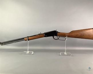 """Henry Repeating Arms .22 Lever Action Rifle Appears new in box. Model H001T. Walnut Stocks on this Classic. Shoots .22 Short, Long and Long Rifle. Tube Fed. Adjustable Rear Sights. 18.25"""" barrel. Shipping to Licensed FFL Dealer only."""