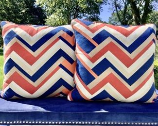 Pair Of Chic Custom Pillows Lot #: 2