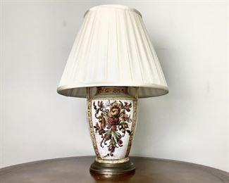 Vintage Italian HandPainted Lamp Lot #: 7