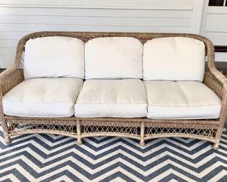 Indoor Outdoor Wicker Sofa Lot #: 9