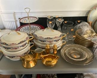 Bavarian china serving pieces