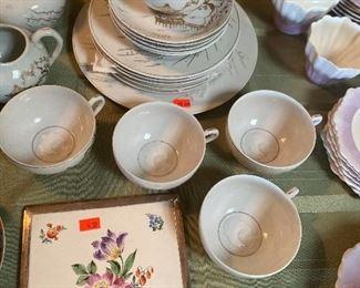 Geisha girl cups and China set