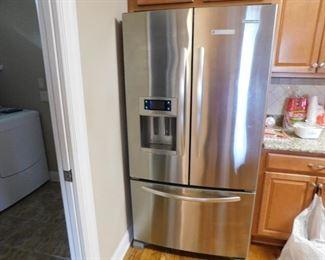 Nice stainless refrigerator.