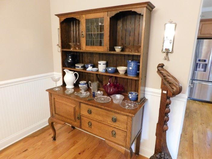Oak Welsh cupboard.
