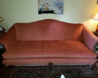 Orange/Red Sofa