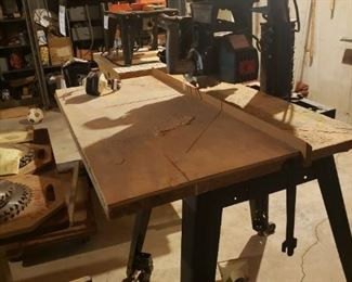 Radial arm saw and table